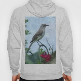Mocking Bird and Vintage Red Rose Hoody