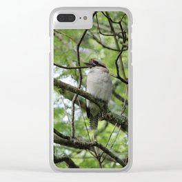 Three kookaburras sharing a laugh Clear iPhone Case