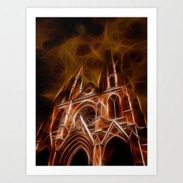 Sainte-Clotilde Basilica in Paris Art Print