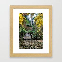 Alfred Nicholas Gardens Boathouse Framed Art Print