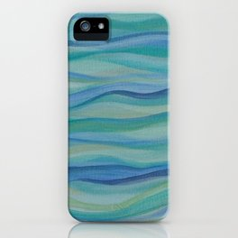 Surf Abstract Waves iPhone Case