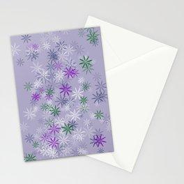 Lavander glow flower power Stationery Cards