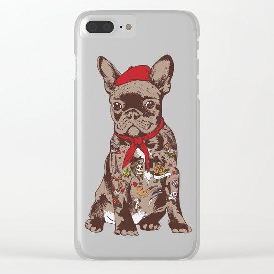 French Bulldog Tattoo Clear iPhone Case
