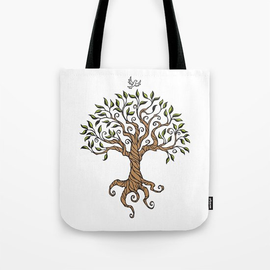 Shirley's Tree Colored Tote Bag