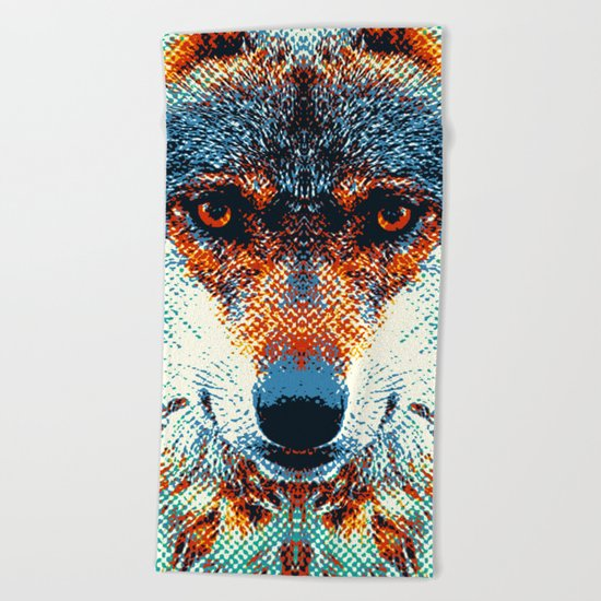 Wolf - Colorful Animals Beach Towel