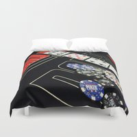 poker Duvet Covers featuring poker by yahtz designs