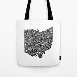 Typographic Ohio Tote Bag