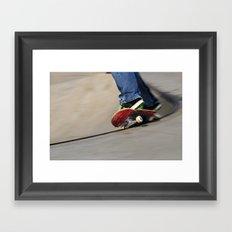On the edge.... Framed Art Print