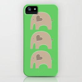 Green Safari Elephant 2 iPhone Case