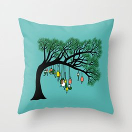 Buoy Tree by Seasons K Designs for Salty Raven Throw Pillow