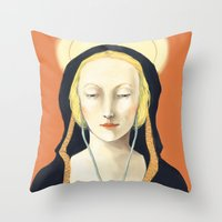 madonna Throw Pillows featuring Musical Madonna by Eleanor Webber
