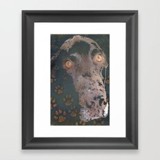 leaving his print Framed Art Print