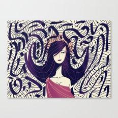 :::Dark Hair::: Canvas Print