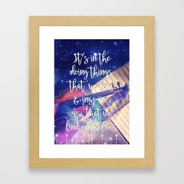 Violin Dream • Find Self Quote • Do What You Love Framed Art Print