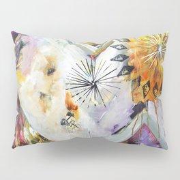 """Burn Bright"" Original Painting by Flora Bowley Pillow Sham"