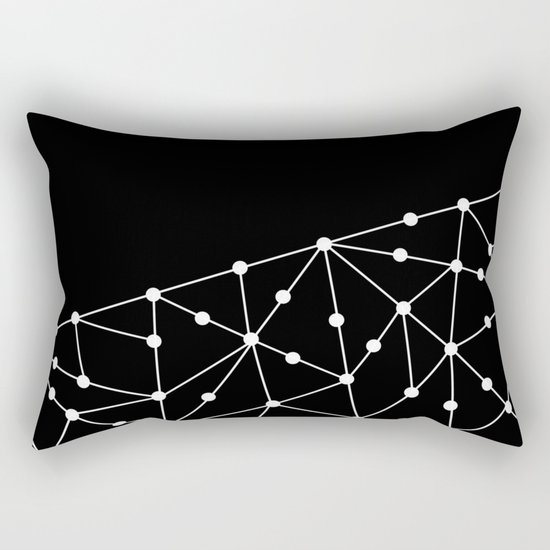 Abstract black and white pattern. Mesh . Rectangular Pillow