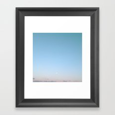 Silver Moon Framed Art Print