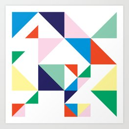 Confetti In a Grid Art Print