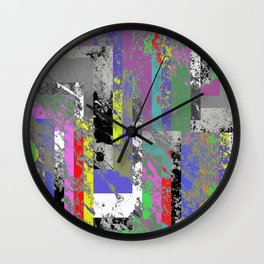 Textured Exclusion I Wall Clock