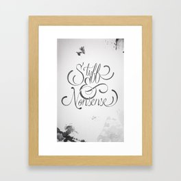 Stuff and Nonsense  Framed Art Print