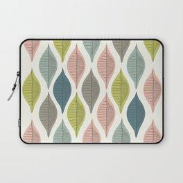 Mid Century Leaf Pattern Pastel Laptop Sleeve