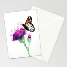 Monarch and Milk Thistle Stationery Cards