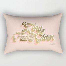 Zero F*cks Given – Blush & Gold Palette Rectangular Pillow