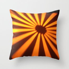 Orange Lines at the ground Throw Pillow