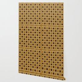 """Vintage Polka Dots"" Wallpaper"