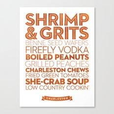 Charleston — Delicious City Prints Canvas Print