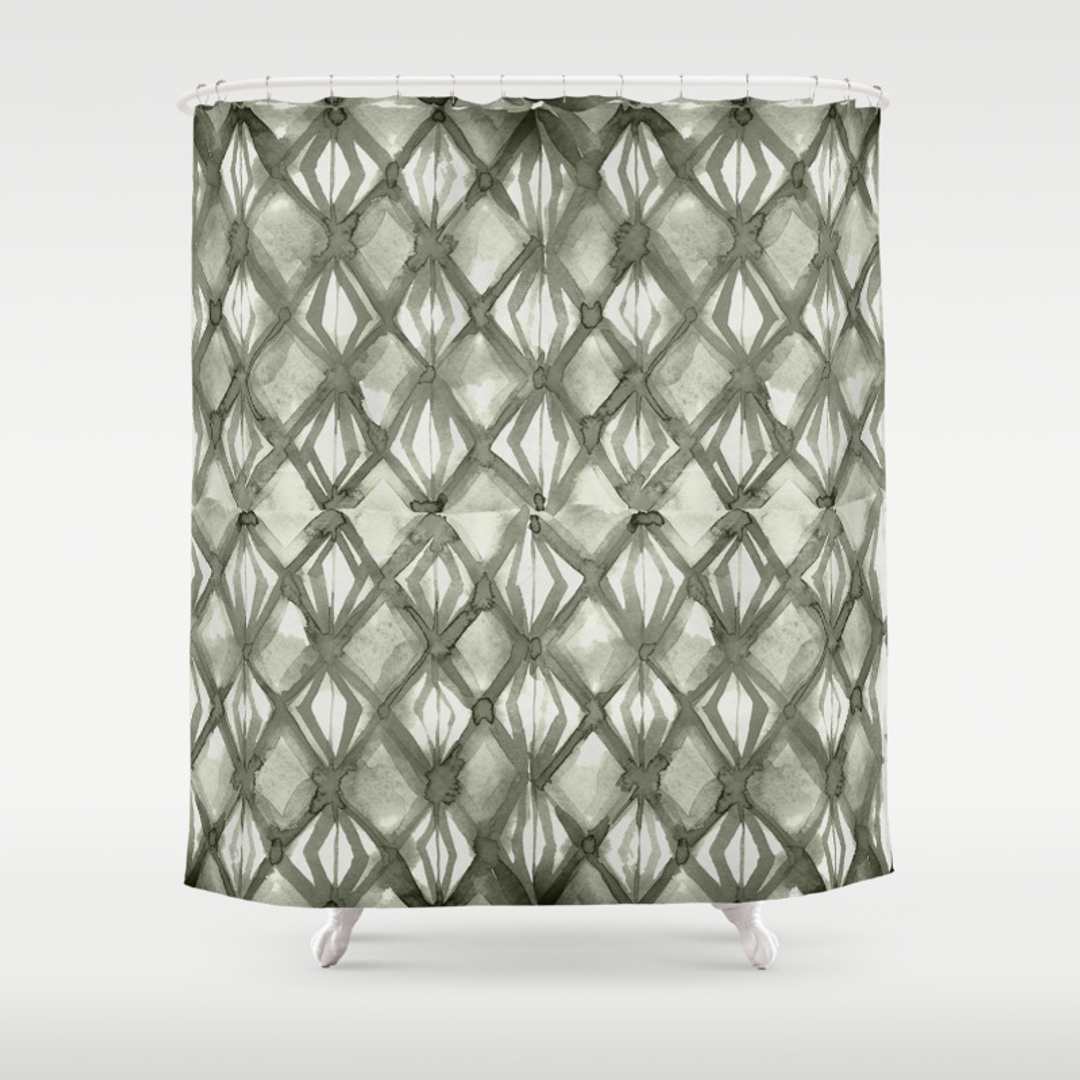 Stroke Shower Curtains | Society6