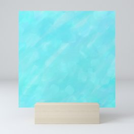 Soft Blue Crystal Abstract Mini Art Print