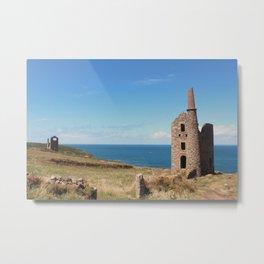 Stone Building England Ocean: Photography Print  Metal Print