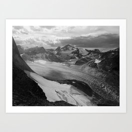 Vowell Glacier Art Print