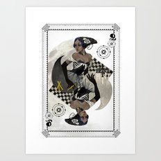 Queen of Carbon Art Print