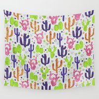 succulents Wall Tapestries featuring Succulents by 83 Oranges™