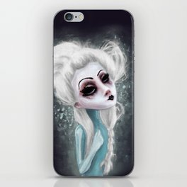 black cold surrounds me iPhone Skin