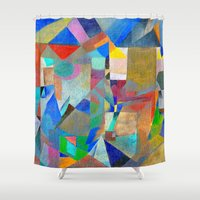 actor Shower Curtains featuring Harlequin by Fernando Vieira