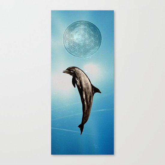 The DOLPHIN - ZEN version Canvas Print