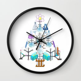 Oh Chemistry, Oh Chemist Tree Wall Clock