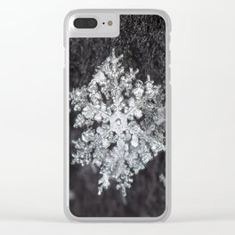 Sowflake closeup #4 Clear iPhone Case