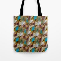 minerals Tote Bags featuring Glow Geometry Minerals Pattern by mb13