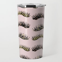 Blush pink - glam lash design Travel Mug