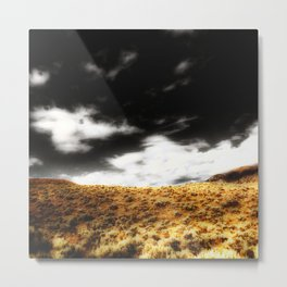 Exploring Sagebrush Field And Sky Metal Print
