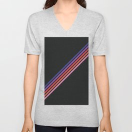 Aigamuxa - Thin Lines on Black Unisex V-Neck