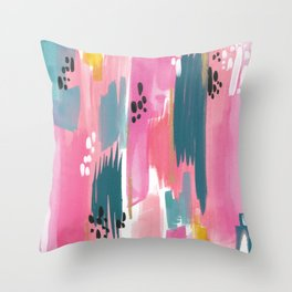 Seaside Abstract Throw Pillow