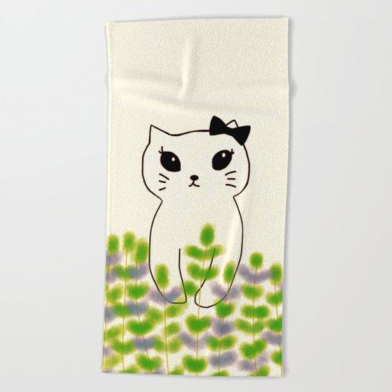 cat-180 Beach Towel