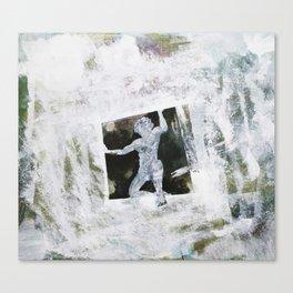 trapped man Canvas Print