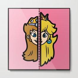 Old & New Princess Peach Metal Print
