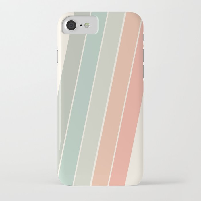Trippin' - retro 70s socal minimal striped abstract art california surfing vintage iPhone Case